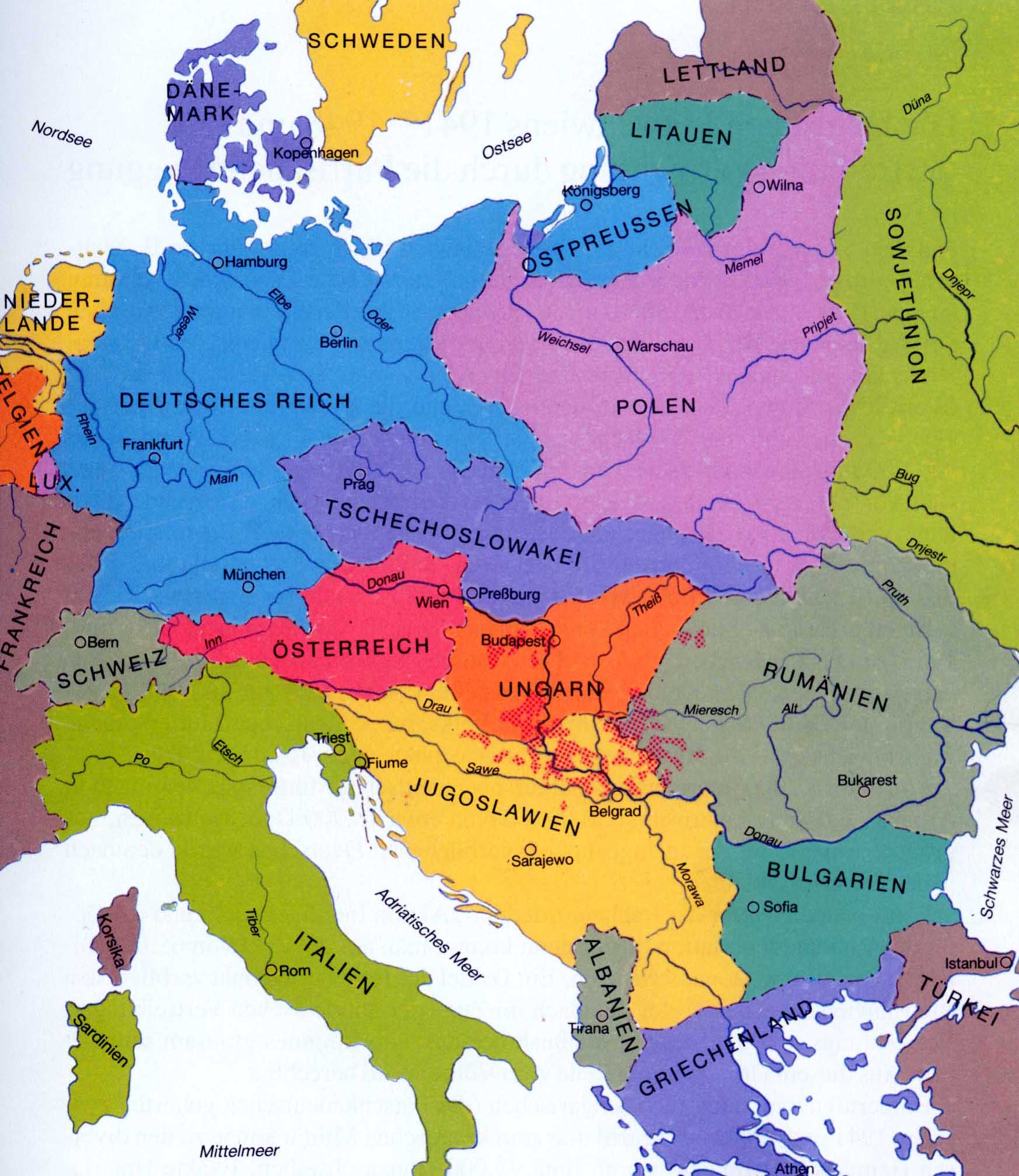 Ridgeaphistory Causes Of World War I - Europe map after world war1